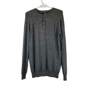 Le31 Super Soft Henley Style Sweater